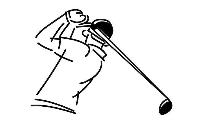 資料素材イラスト(ゴルフ)
