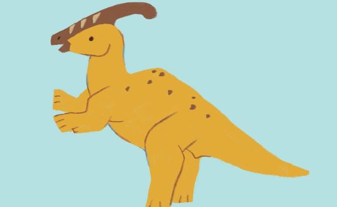パステルカラー恐竜