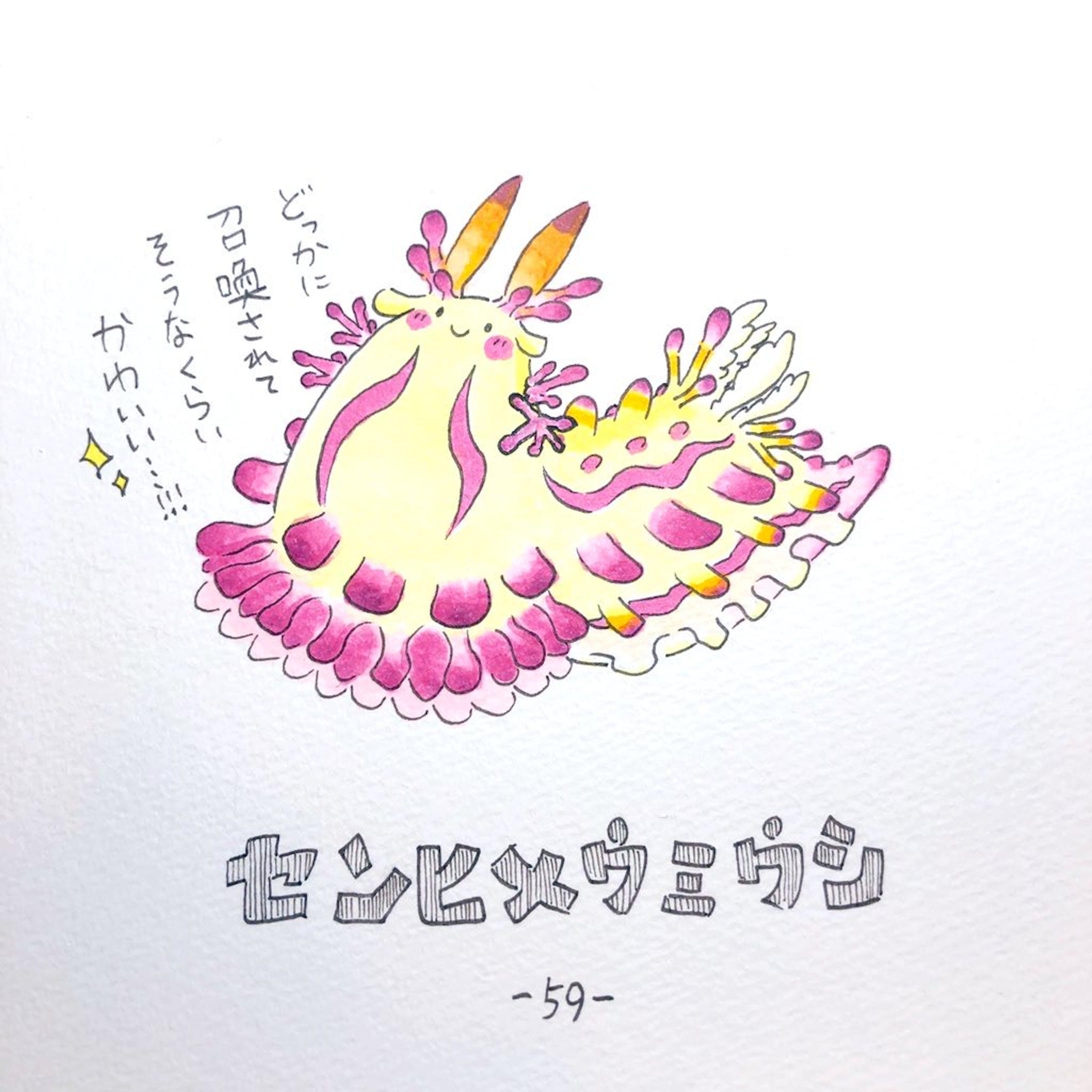 #毎日ゆるかわウミウシ(15〜60)-47