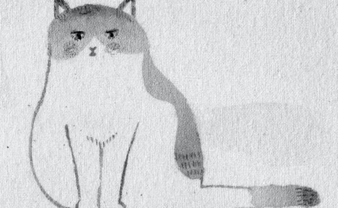 モノクロカット Cat
