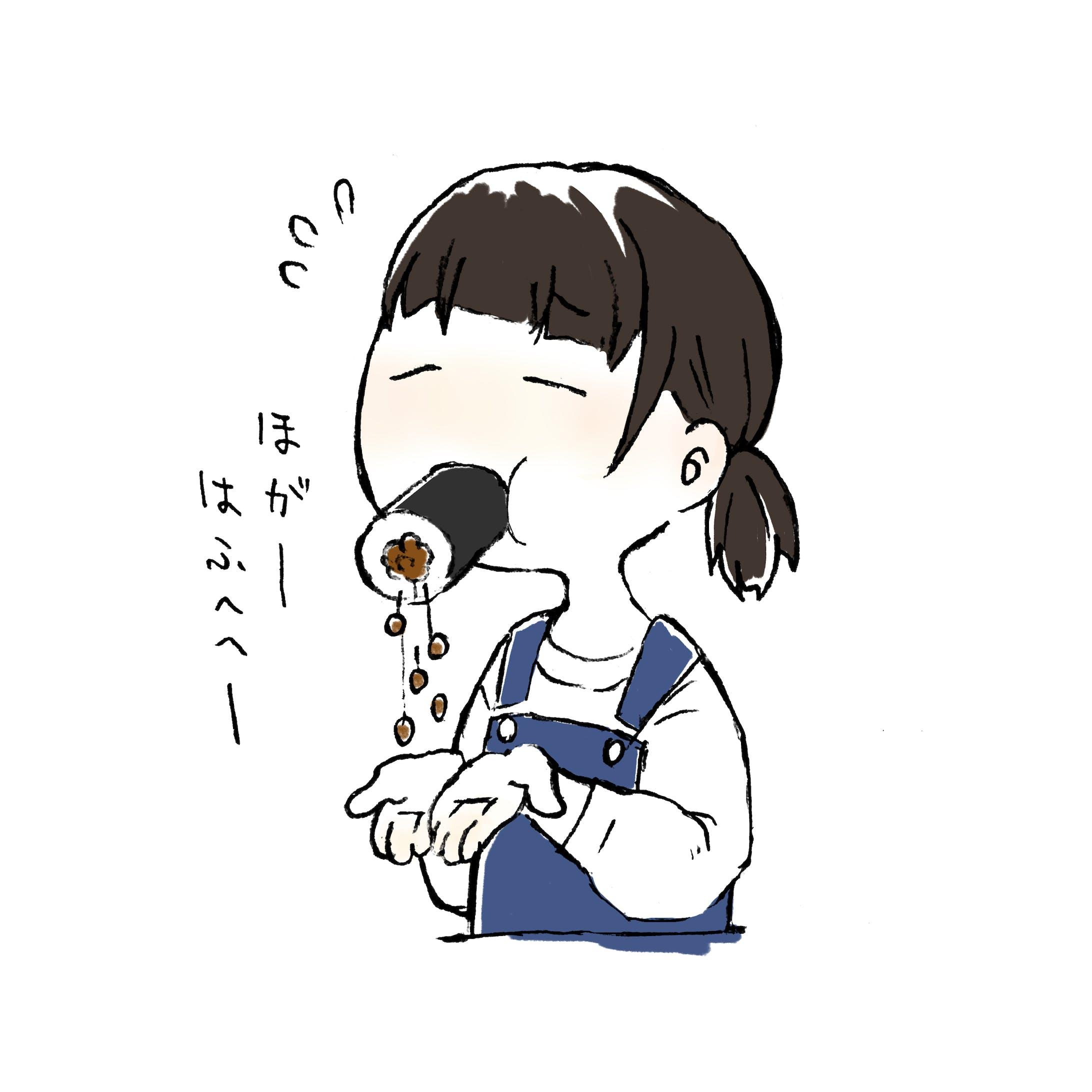 【イラスト】ぶきっちょガール-11