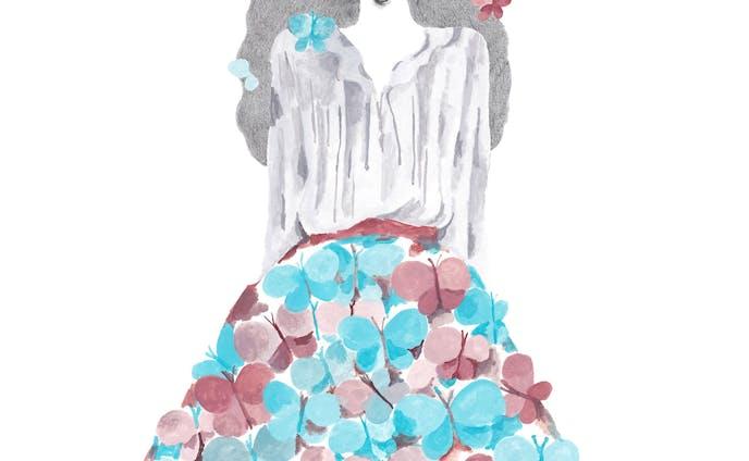 蝶のスカート