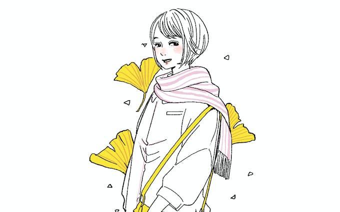 おしゃれ線太イラスト