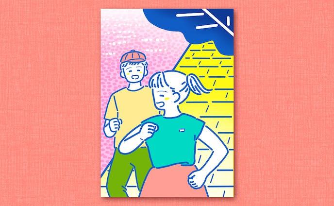 jogging|イラストレーション