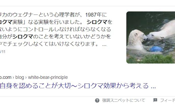 【ライティング】シロクマ効果