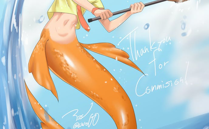 Commission:ラクロス人魚