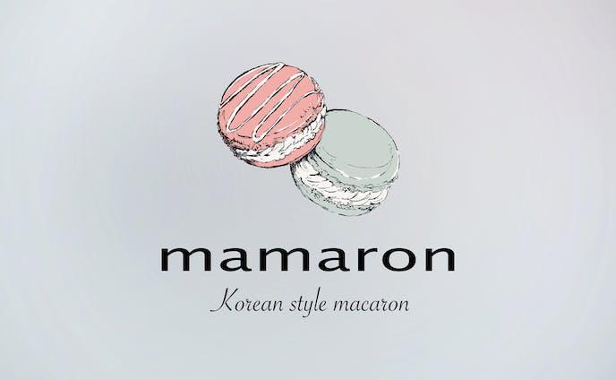 マカロン専門店mamaron イラストロゴ