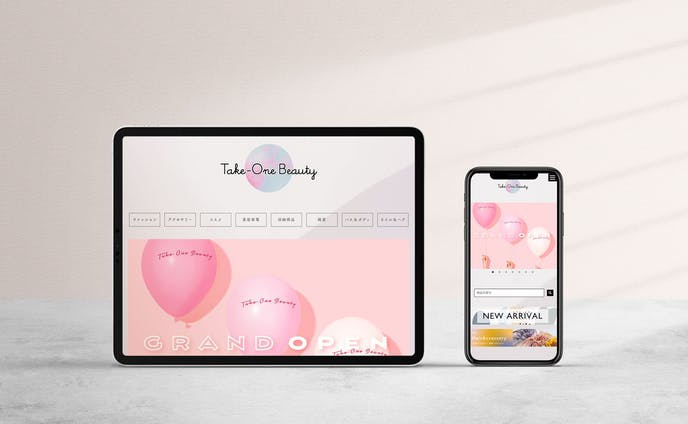 Take-One Beauty Webデザイン/ロゴ/バナー