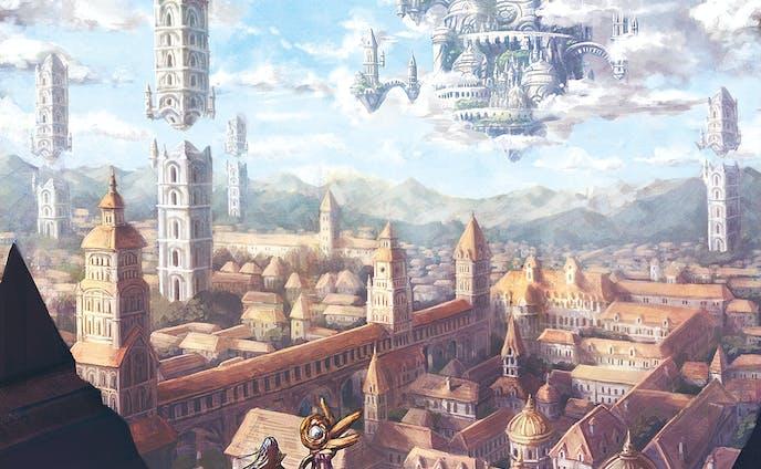 空の王城と城下町