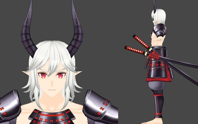 3Dキャラクターモデル「羅刹」