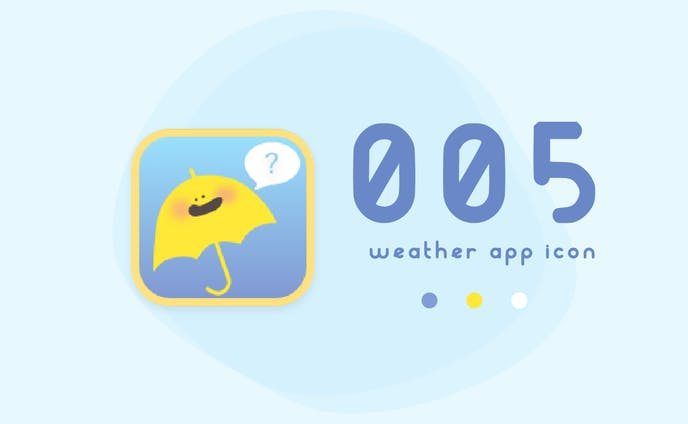 #05 天気アプリのアイコン