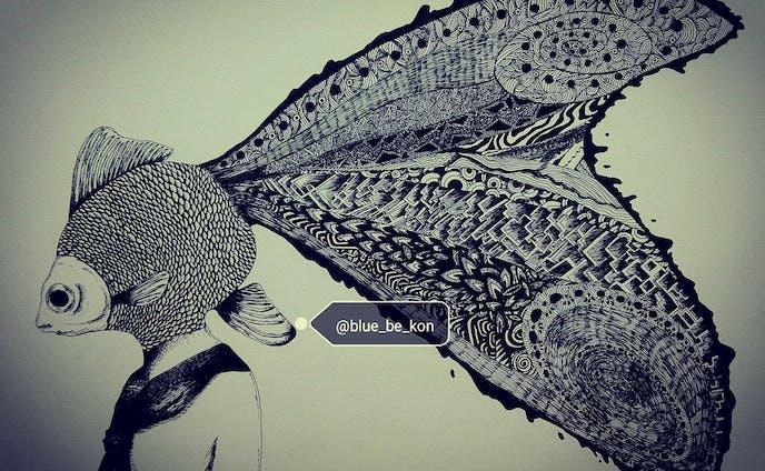 アナログペン画