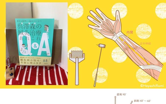 医道の日本社様、書籍『呉澤森の鍼灸治療あれこれQ&A』のカットイラスト
