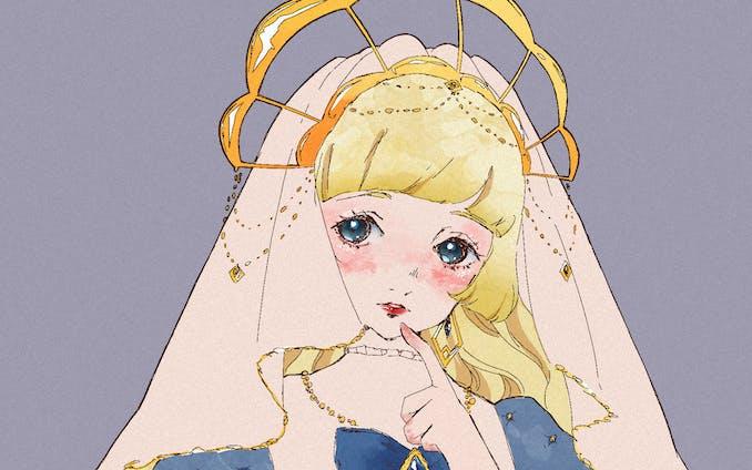 【イラスト】ゴシック系少女のイラスト