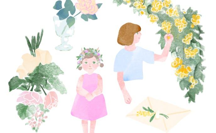 花のあるシーン