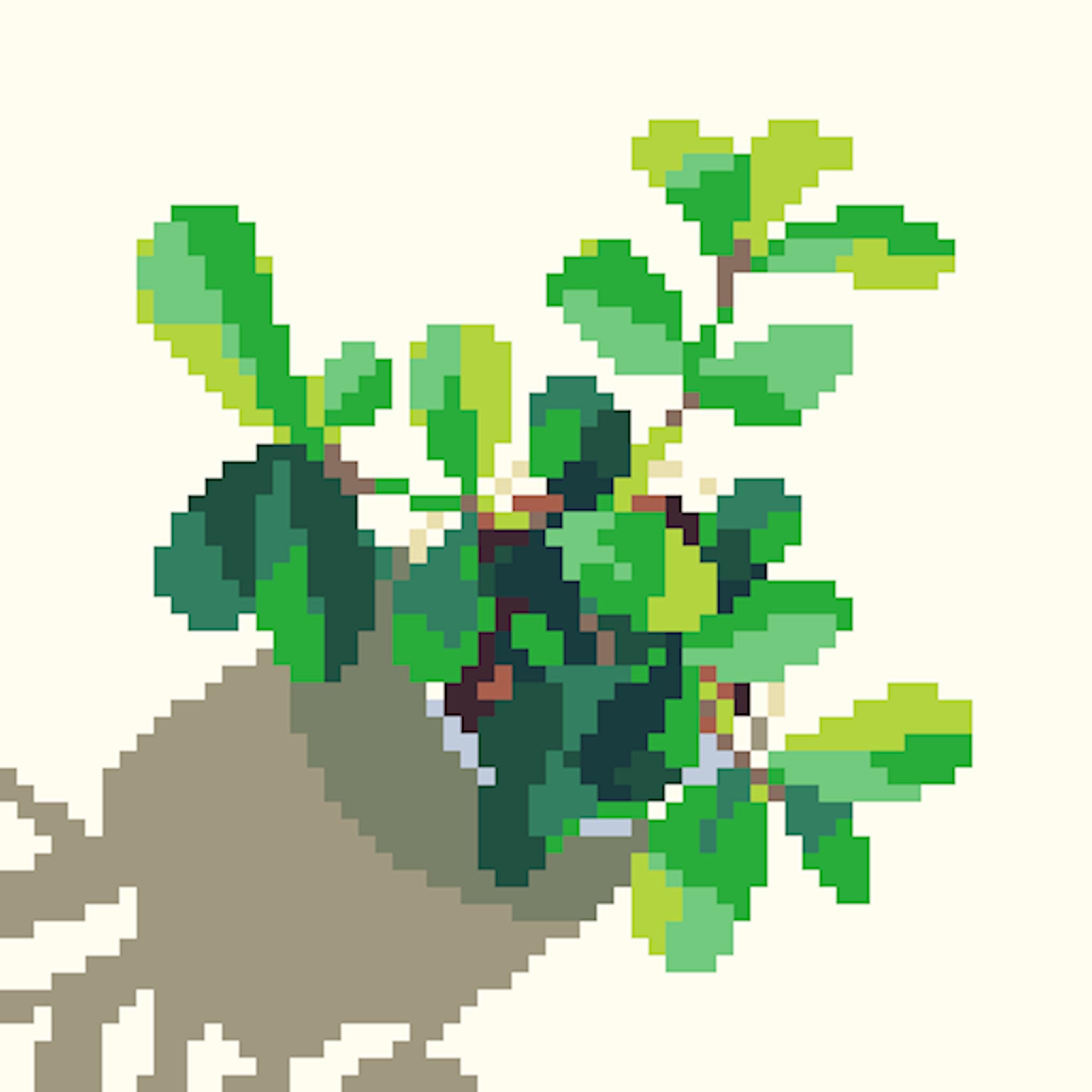 草木のドット絵-2