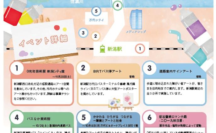 新潟県駅前キャンペーンチラシ 裏面デザイン