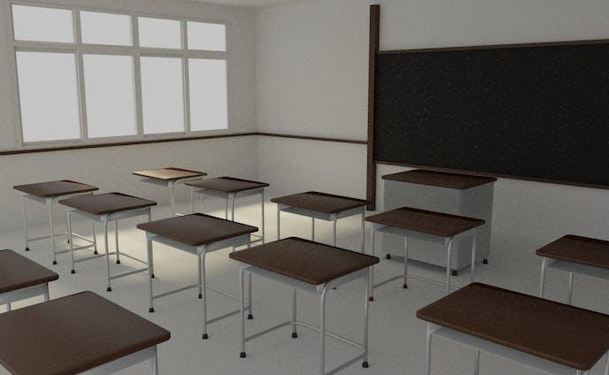 無機質な教室