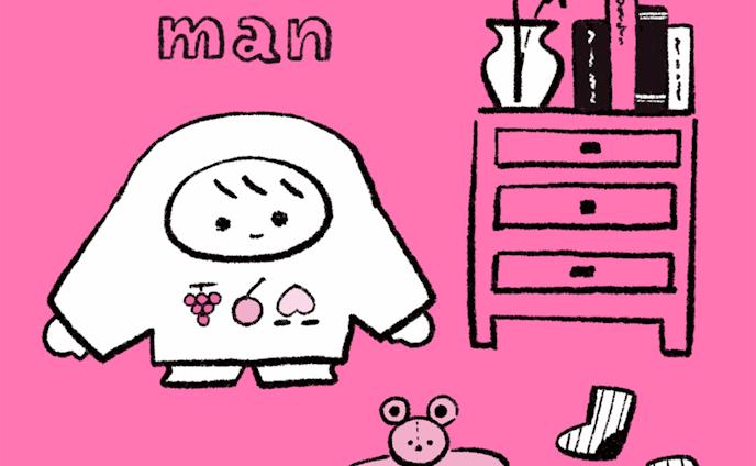 線画・Tシャツマン