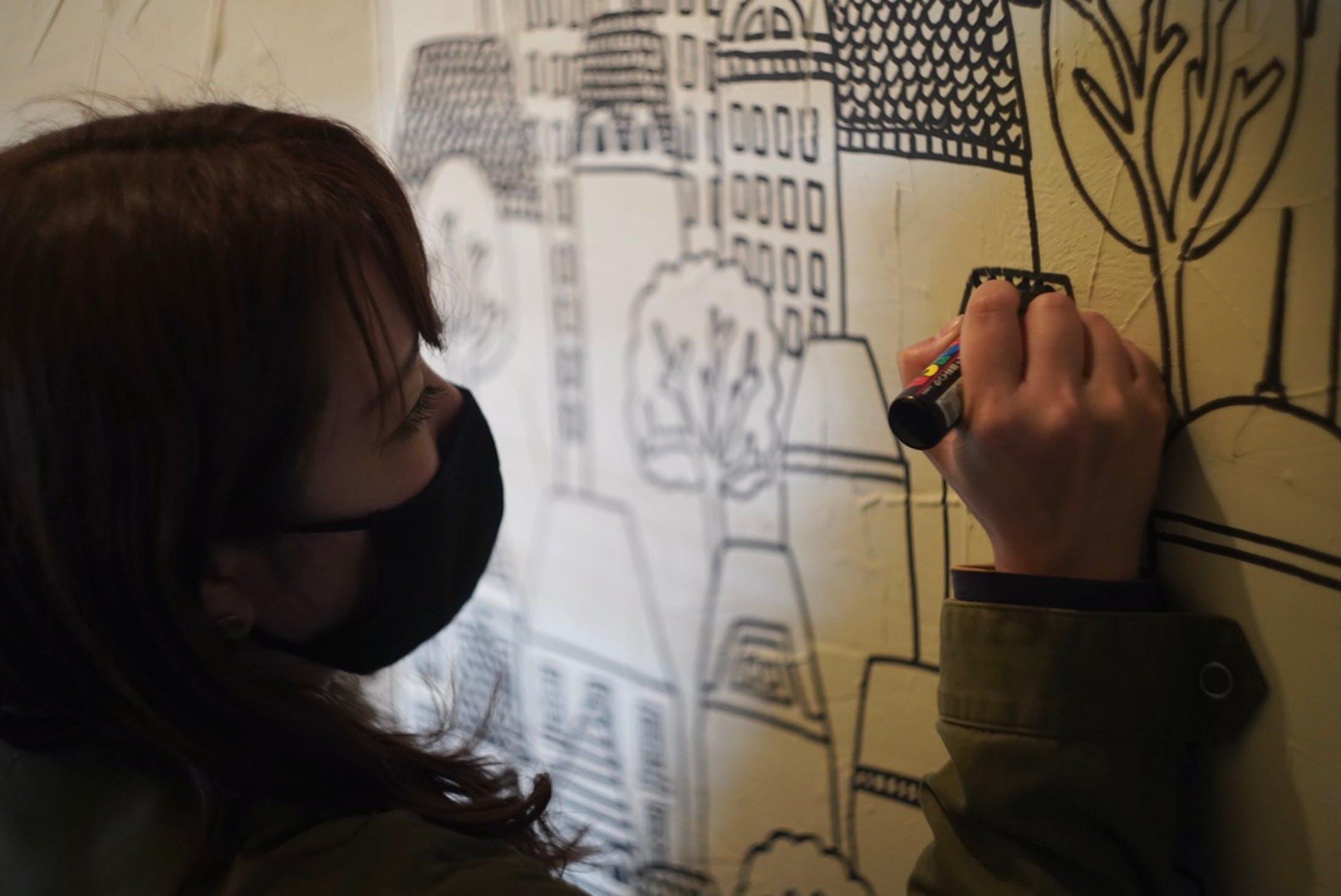 かえるのより道 壁画-3