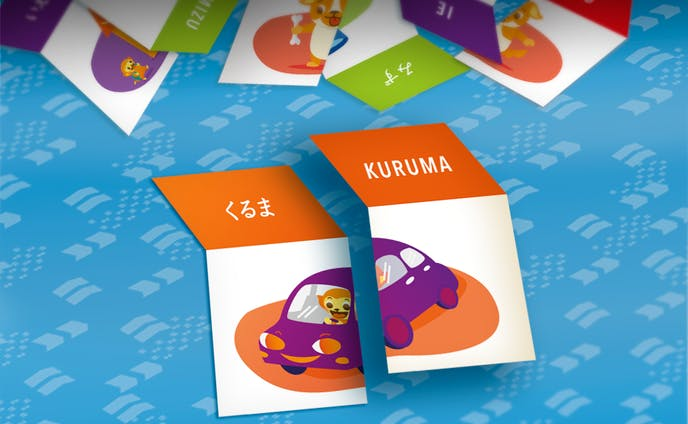 Japanese learning card game