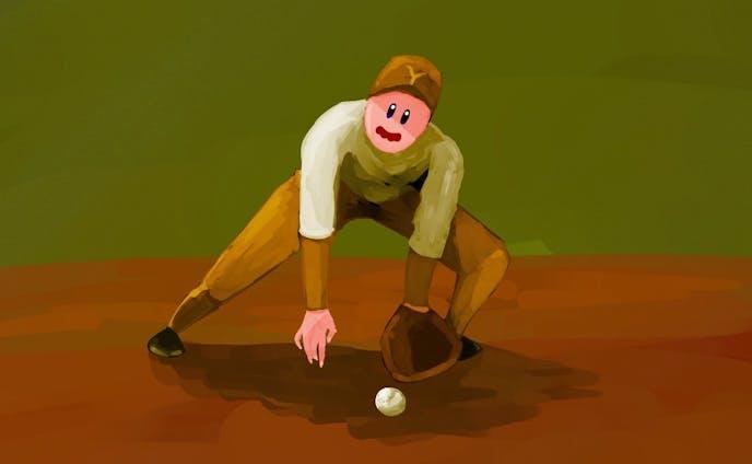 野球をする星のカービィ