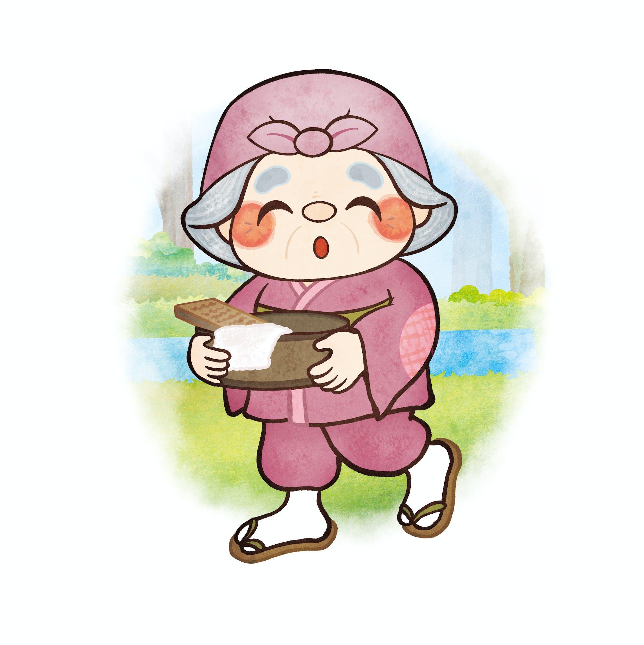昔話のおばあちゃん-1