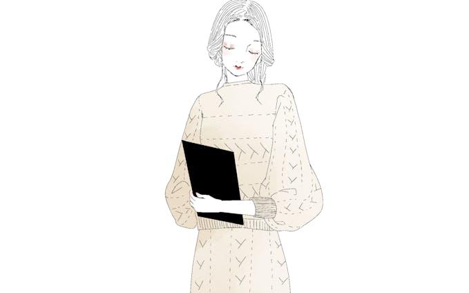 女性人物イラストカット