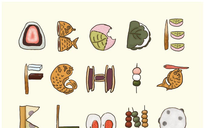 JAPANESE SWEETS FONT