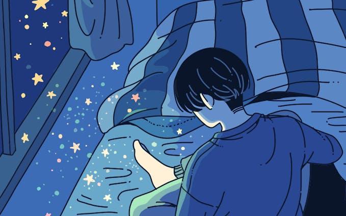 星が降る夜
