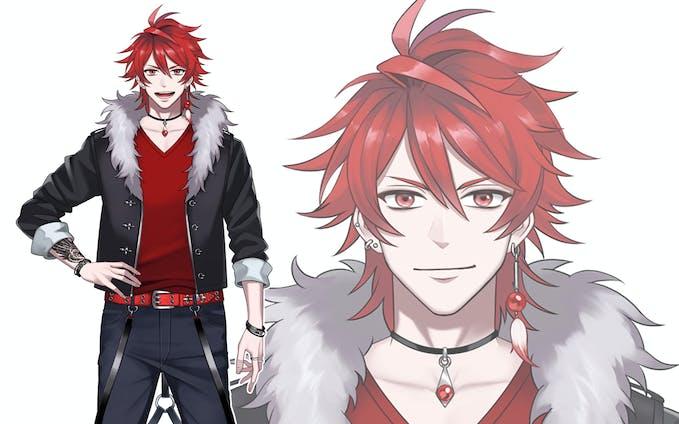 【お仕事】Vtuber「Yuzei」キャラクターデザイン