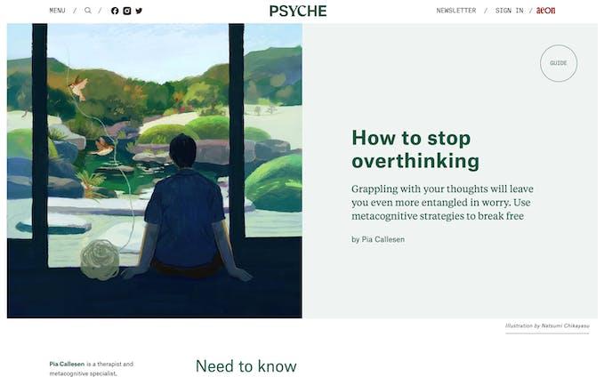 Psyche / 考えすぎる癖をやめる方法