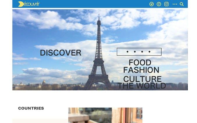 架空の旅行サイト デザイン