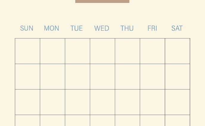 パン屋さんのカレンダー