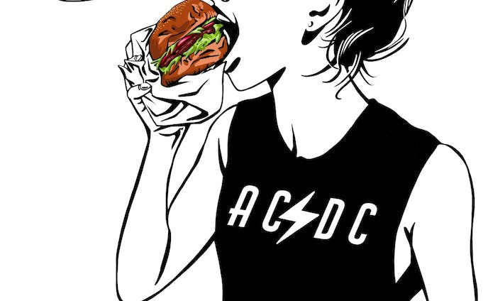 Full Time Burger Lover by Shaula Vogue