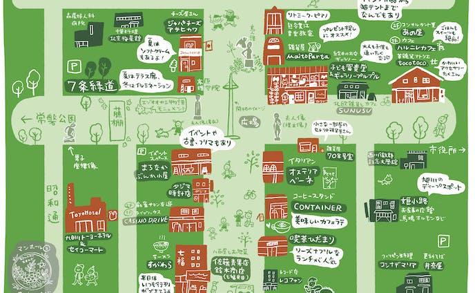 三和緑道商店会おさんぽmap