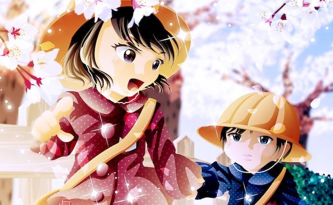 桜Exhibition2020 展示作品「姉4歳・弟2歳」