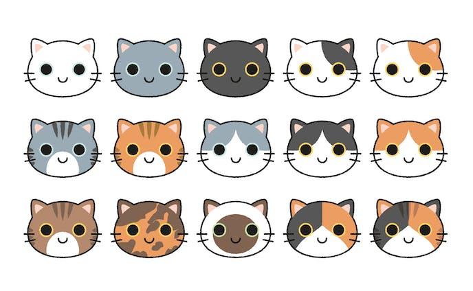 いろんな猫の柄パターン