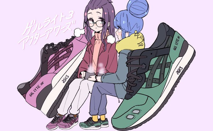 SD Character illustration with ASICS