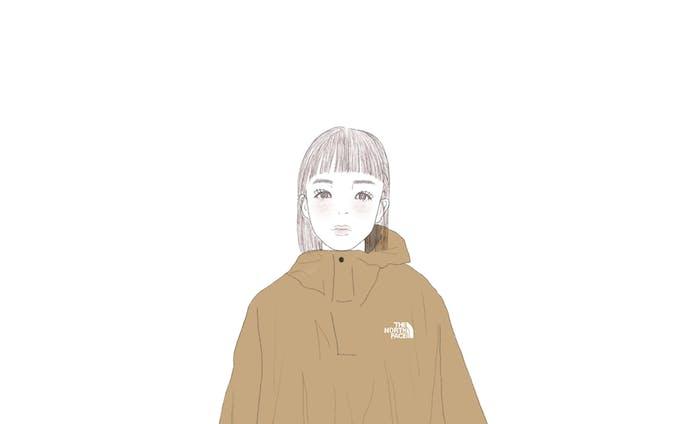 女の子の全身ファッションイラスト