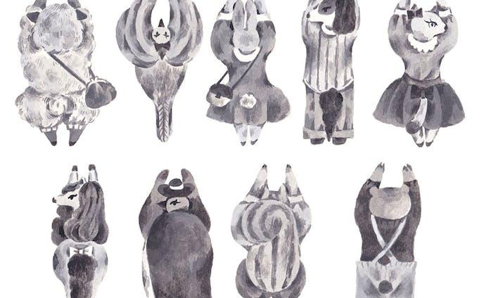 『動物たちがペタッと封するマスキングテープ』(カモ井加工デザインコンテスト・審査員特別賞(皆川明(minä perhonen)  賞)