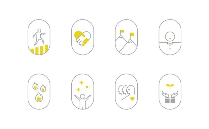 LR -- credo icon design