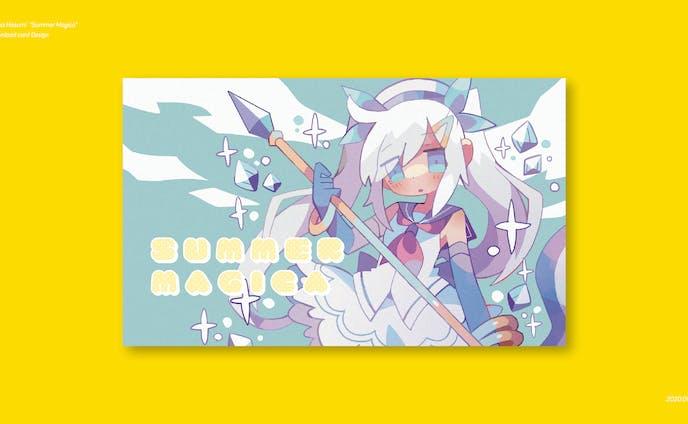 アーティスト「蓮美えれな」様のダウンロードカード・タイトルロゴデザイン