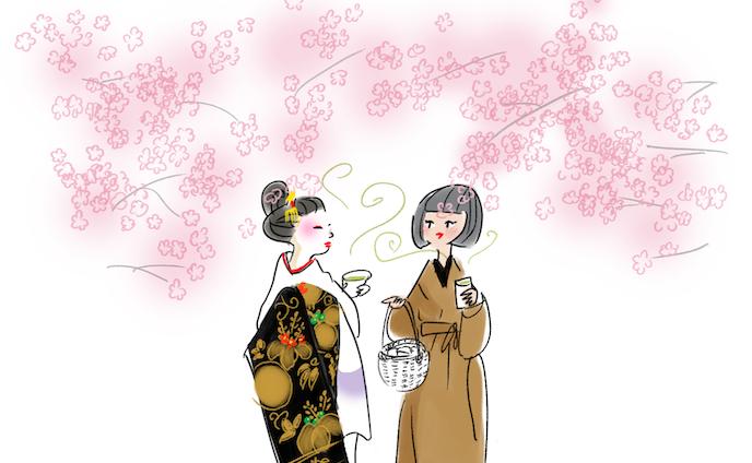 着物女性を描く