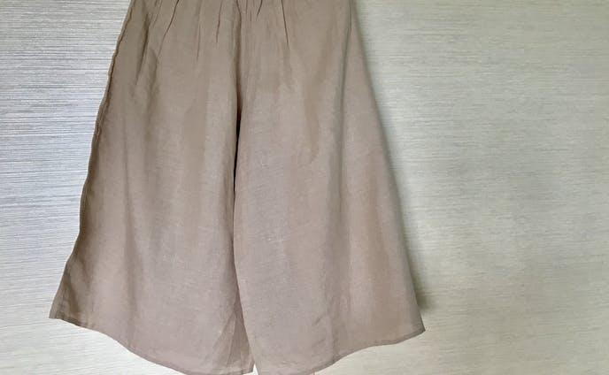 麻のワイドパンツ(七分丈)