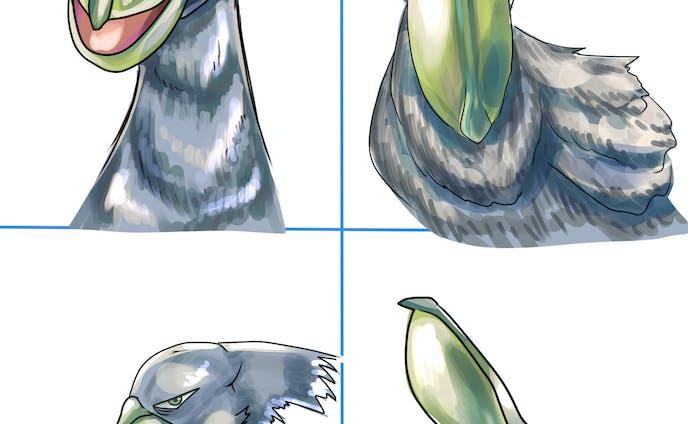 ハシビロコウ アイコンイラスト 四種類
