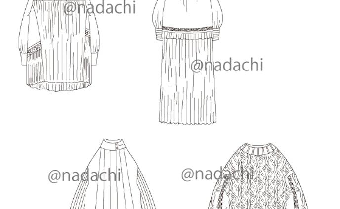 アナログ衣装デザインのトレース