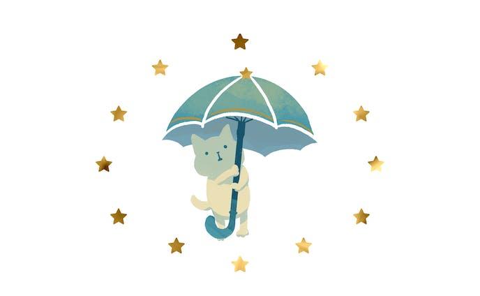 季節のイラスト  梅雨