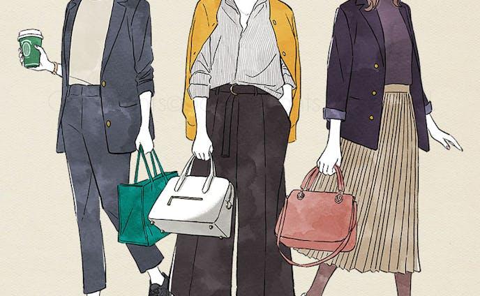 日経ウーマンオンライン ファッション記事イラスト(2018)