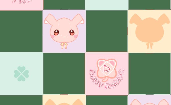 Baby Rabbit カラフルタイル